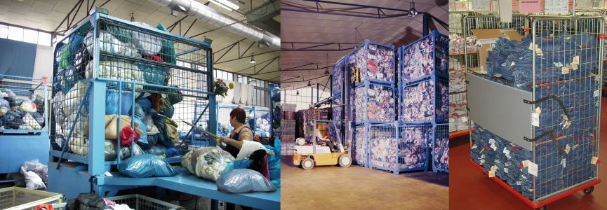 Textilcontainer der massanzug f r ihr transportgut for Gebrauchte polstergarnituren