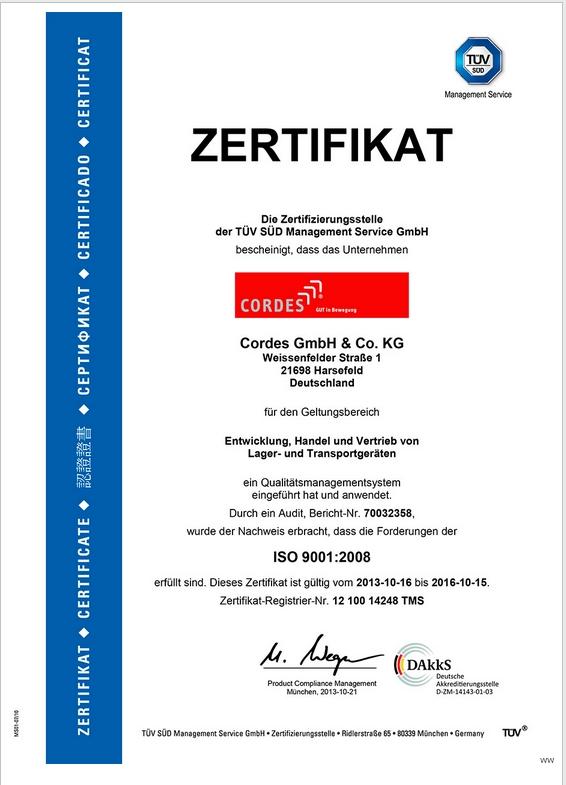 QS Zertifikat 9001