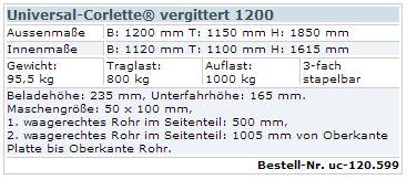 Universal-Corlette vergittert 1200-2