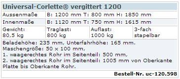 Universal-Corlette vergittert 1200