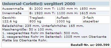Universal-Corlette vergittert 2000