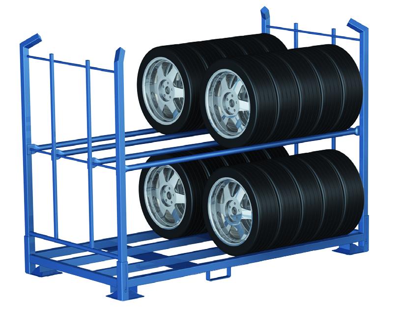 Reifen-Stapelgestell