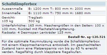 Schaldämpferbox