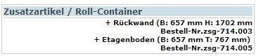 Zusatzartikel Roll-Container